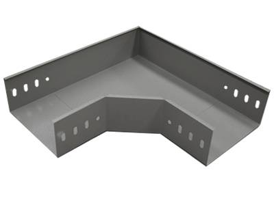 A elbow 90° cable tray on the gray background.